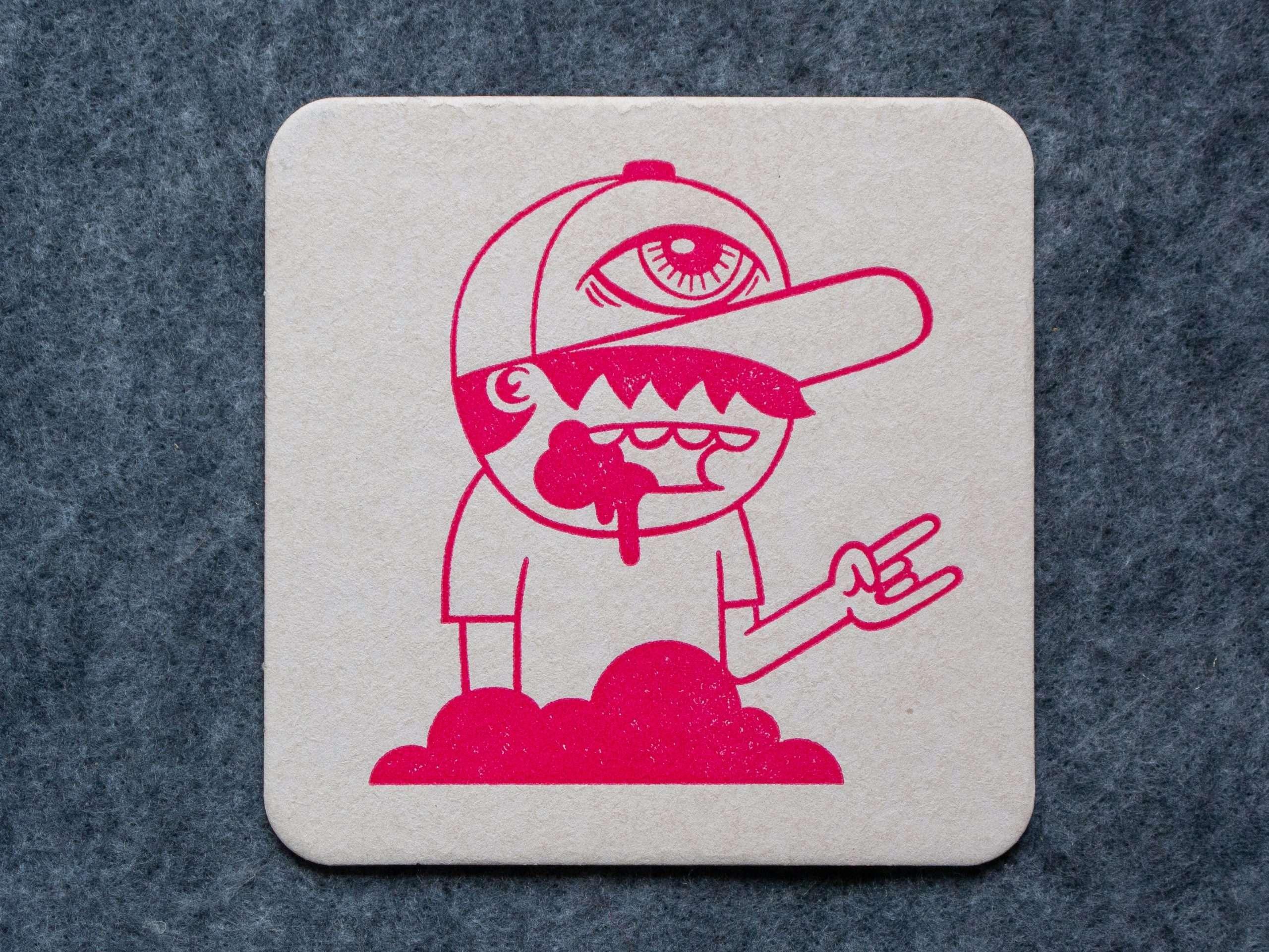 Character with baseball cap